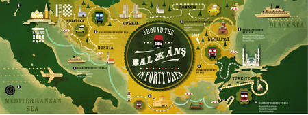 The Balkans by Alexandre Cartographik