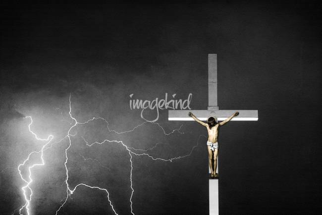 Good Friday - Crucifixion of Jesus BW Color