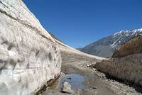 Snow Bank Lahaul Valley