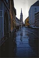 Rainy Street in Buda, Hungary 2001