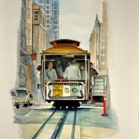 """""""Cable Car - San Francisco"""" by Ambika"""