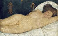 Reclining Female Nude by Paula Modersohn-Becker