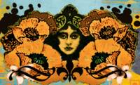 Modern Art Nouveau California Poppies
