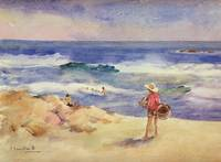 Boy on the Sand by Joaquin Sorolla y Bastida