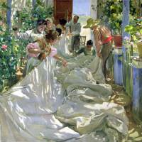 """Mending the Sail by Joaquin Sorolla y Bastida"" by fineartmasters"