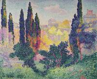 The Cypresses at Cagnes by Henri-Edmond Cross