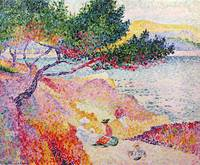 La Plage de Saint-Clair by Henri-Edmond Cross