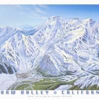 """Squaw Valley Ski Resort, California"" by jamesniehuesmaps"