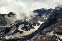 Mount St Helens lava dome closeup