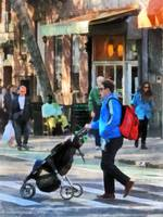 Manhattan NY - Daddy Pushing Stroller Greenwich Vi