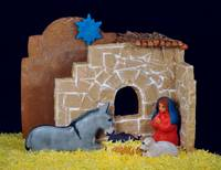 Gingerbread Nativity Sculpture