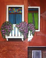 Colorful windows of venice Painting