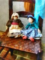 Two Colonial Rag Dolls