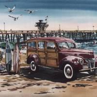 """Surfin San Clemente"" by WillyDaleArt"