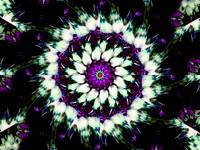 White & Purple Kaleidoscope Mandala