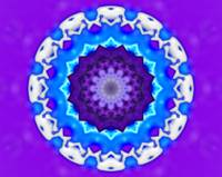Blue, White & Purple Kaleidoscope Mandala