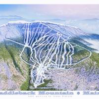 """Saddleback Mountain ski resort"" by jamesniehuesmaps"