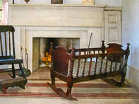 Cradle Near Fireplace