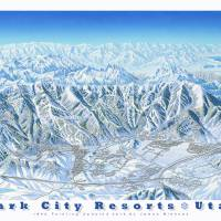 """Park City Area Resorts"" by jamesniehuesmaps"