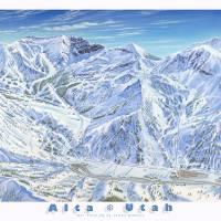 """Alta Ski Resort, 1991"" by jamesniehuesmaps"