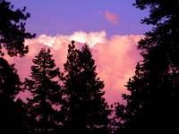 Thunderheads Building up at Packer Lake, CA