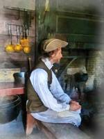 Colonial Man in Kitchen