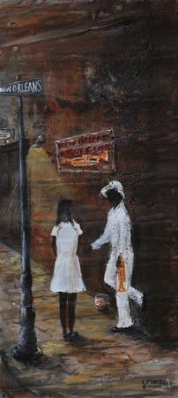 COURTING    FOLK ART - SOUTHERN ART- NEW ORLEANS