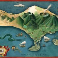 """Map of Bali"" by jvorzimmer"