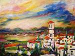 Church of Santa Maria Assisi Italy Oil Painting Posters