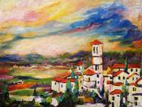 Church of Santa Maria Assisi Italy Oil Painting
