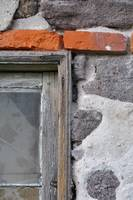 Rustic Outhouse Window Abstract