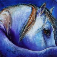 BLUE MOONSTRUCK ARABIAN by Marcia Baldwin