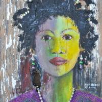 MARDI GRAS GIRL NEW ORLEANS SOUTHERN ART Art Prints & Posters by Larry
