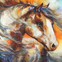 PAINTED WIND EQUINE by Marcia Baldwin by Marcia Baldwin