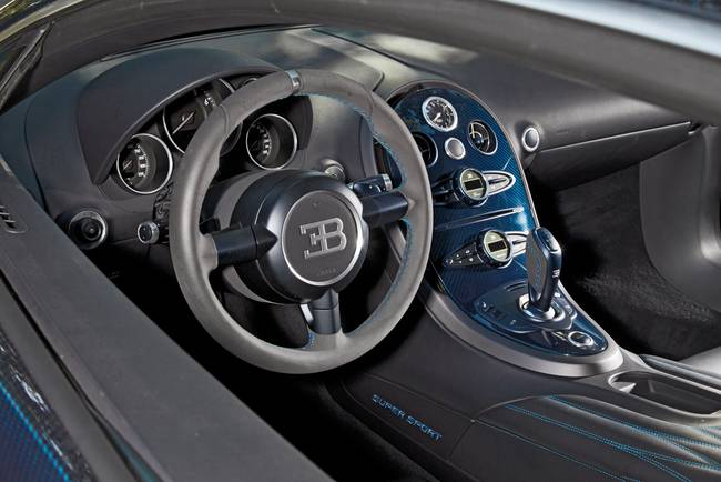 2011 Bugatti Veyron Super Sport Steering Wheel By Road Track