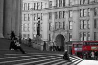 London Buses and the Steps of St Paul's