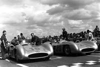 Two Mercedes-Benz W-196s at the French GP, 1954