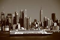 New York City Skyline and Cruise Ship