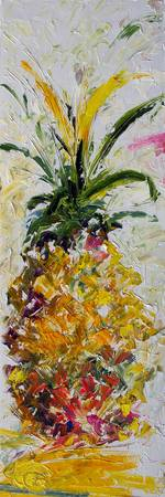 Modern Pineapple Expressive Oil Painting