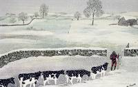 Cotswold: Winter Scene by Maggie Rowe