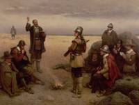 The Landing of the Pilgrim Fathers by G. H. Bought