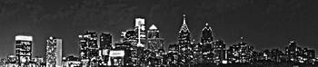 Philadelphia Skyline Panorama - Monochrome