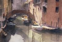A Quiet Canal in Venice by Trevor Chamberlain