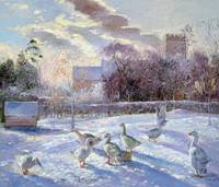 Winter Geese in Church Meadow by Timothy Easton