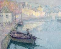 Clear Morning, Quimperle by Henri E. A. Le Sidaner