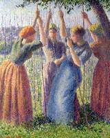 Women Planting Peasticks by Camille Pissarro