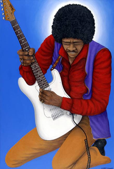 Jimi Hendrix by Larry Smart