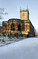 St Modwen's Church, Burton - in the Snow