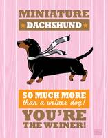 Dachshund2 Pink/Orange