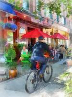 Hoboken NJ - Riding Past the Cafe